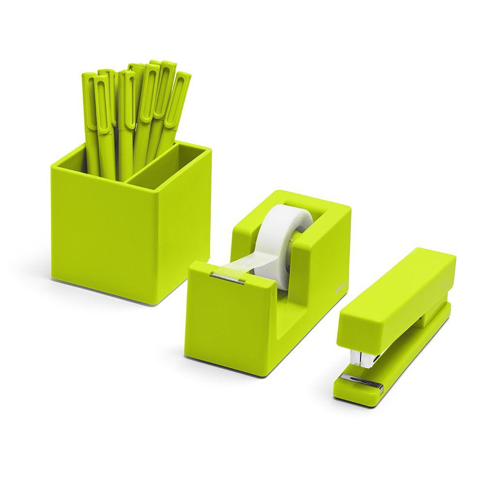 Lime Green Starter Set Desk Accessories Poppin