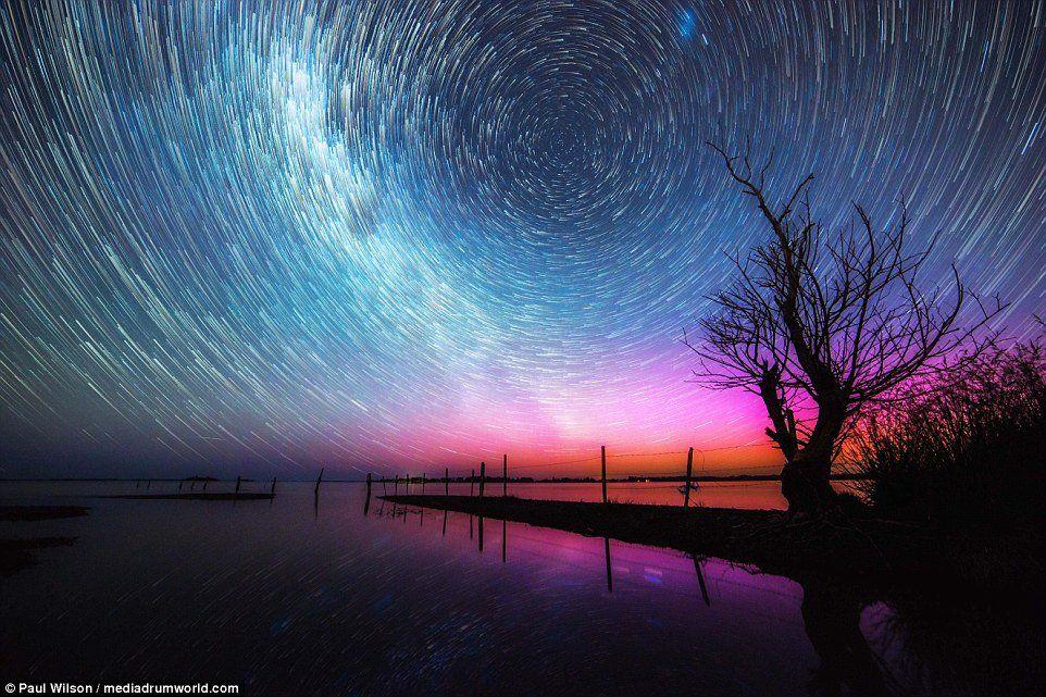 Star Trails and Aurora by Paul Aurora sky, Beautiful