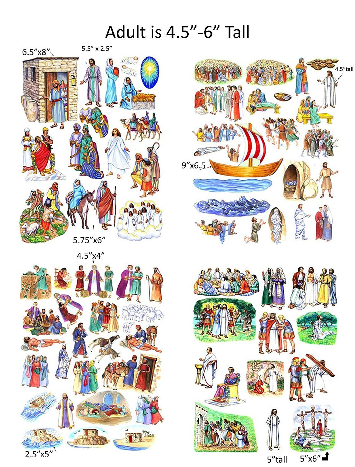 Story Amp Life Of Jesus 13 Bible Stories Felt Figures For