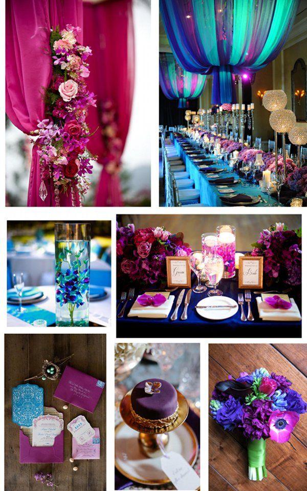 Jewel Tone Touches Oh Brides Wedding Magazine Jewel Tone