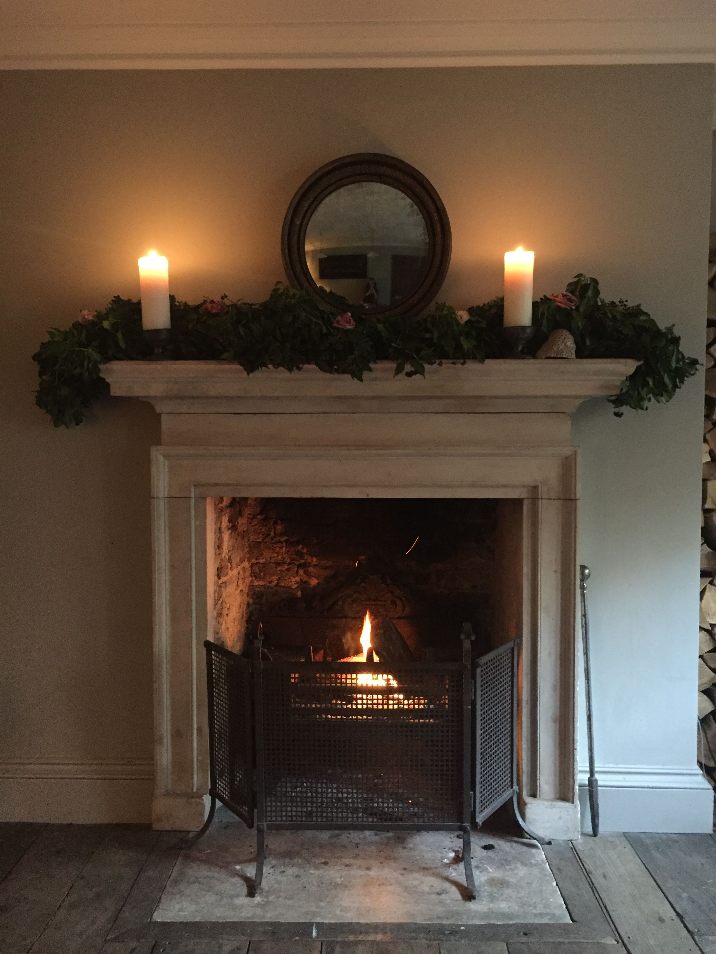 Pin By Sharon M On Fire Place Christmas Fireplace Mantels