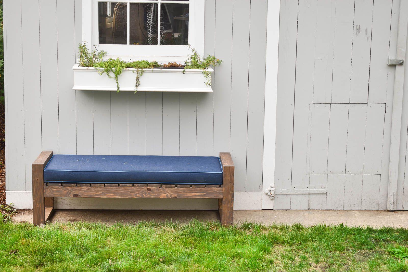 Brilliant How To Make A Modern Backyard Bench Outdoor Projects Inzonedesignstudio Interior Chair Design Inzonedesignstudiocom