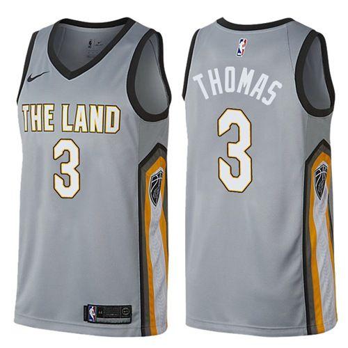 d8f633eb8 Nike Cavaliers  3 Isaiah Thomas Gray NBA Swingman City Edition Jersey