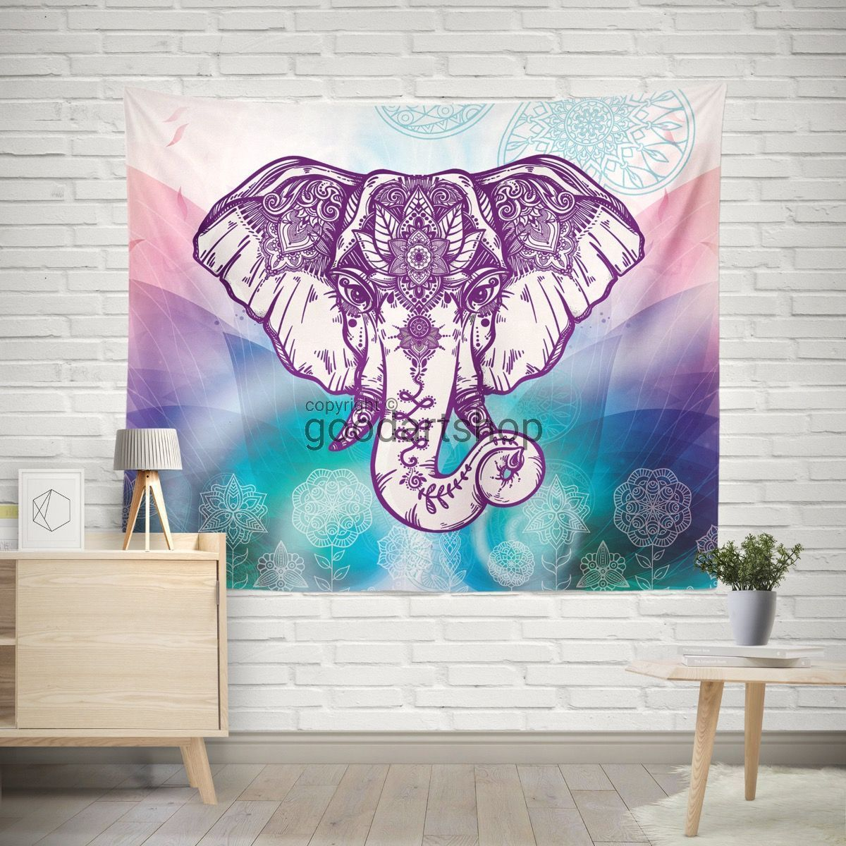 Wall Tapestry Simple Purple Boho Elephant Wall Tapestry Boho Wall Hanging Wall Decor Walltapestry Simple Metal Tree Wall Art Tree Wall Art Elephant Tapestry