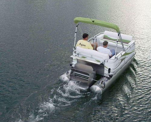Pedal pontoon boat pontoon boating and boating for Fishing paddle boats