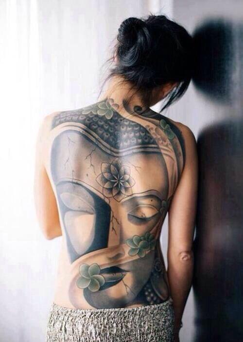 Buddha Tattoo Like The Central Lotus Gem Back Tattoo Women