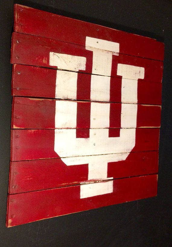 Indiana Hoosiers Sign University Of By Palletsandpaint Rhpinterest: Indiana University Home Decor At Home Improvement Advice