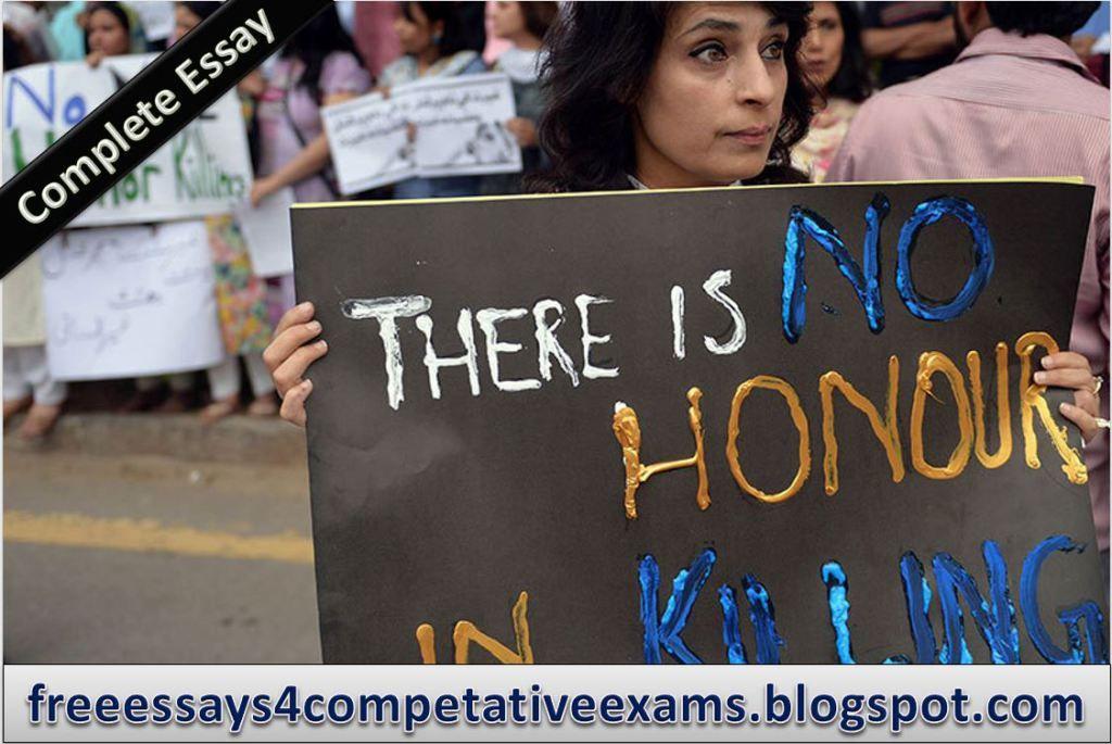 Honour Killing Complete Essay  Pakistan  Essayspedia  Pakistan Honour Killing Complete Essay  Pakistan
