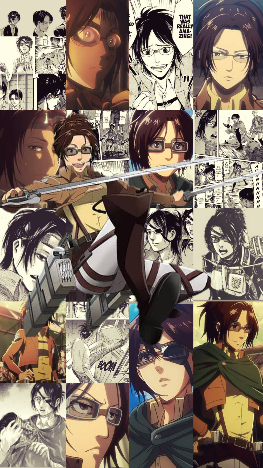 Hange Zoe Cellphone Wallpaper Shingeki No Kyojin Attack On Titan Attack On Titan Anime Attack On Titan Attack On Titan Fanart