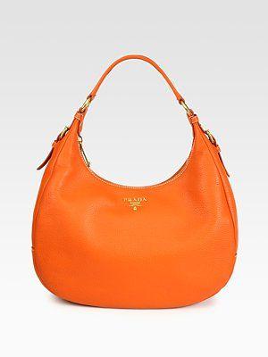 ... orange bag. Prada vitello Daino Small Hobo 9aea103a9500f