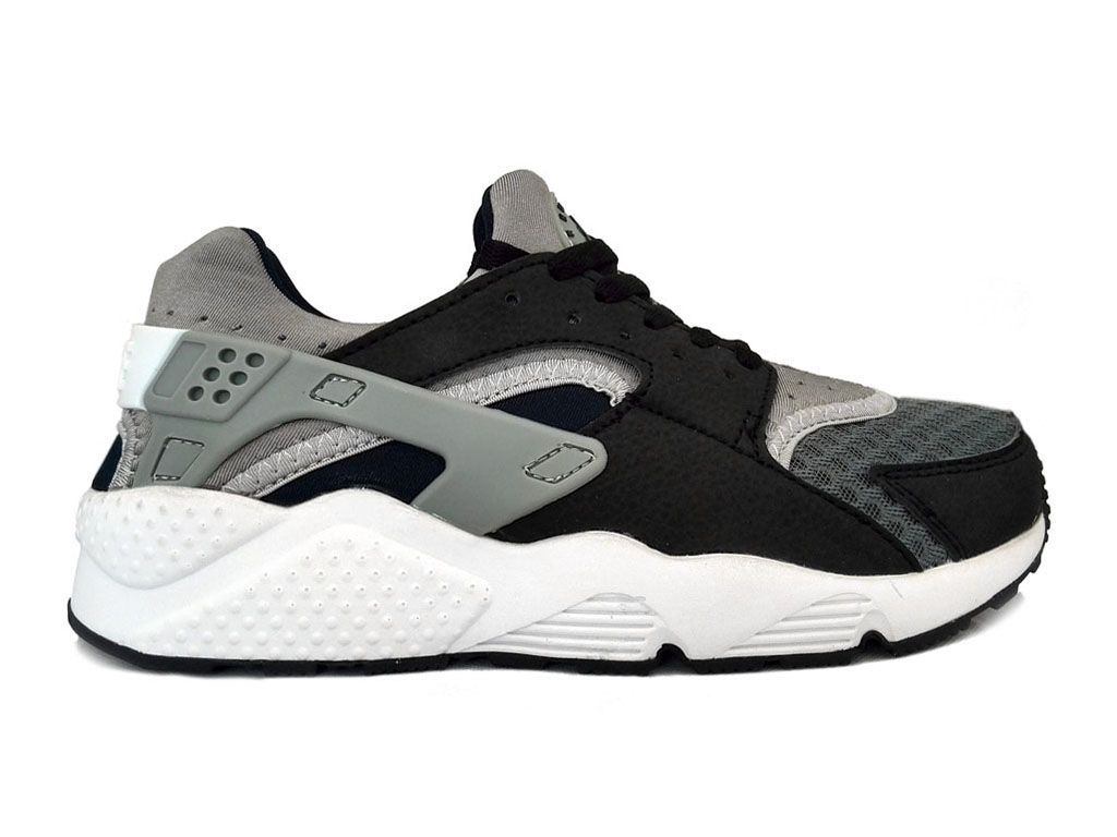 nike air huarache chaussures nike sportswear pas cher pour homme noir wolf gris 654275 001 www. Black Bedroom Furniture Sets. Home Design Ideas