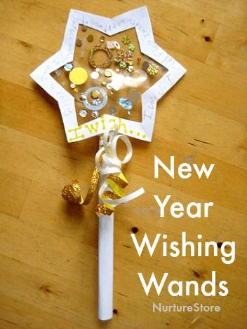 Wishing Wand New Year craft for children - NurtureStore