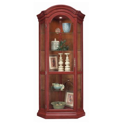 Philip Reinisch Co. ColorTime Solid Wood Corner Curio Display Cabinet Finish: Chili Pepper Red