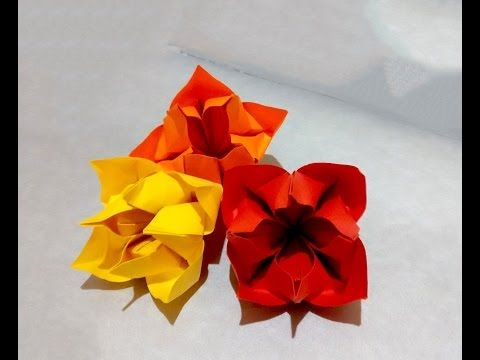 How To Make An Origami Balloon Flower Youtube Origami Flowers