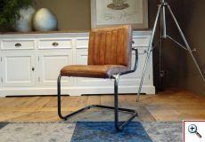 Bomazi industriele stoel vertical cognac zonder arm stoelen en