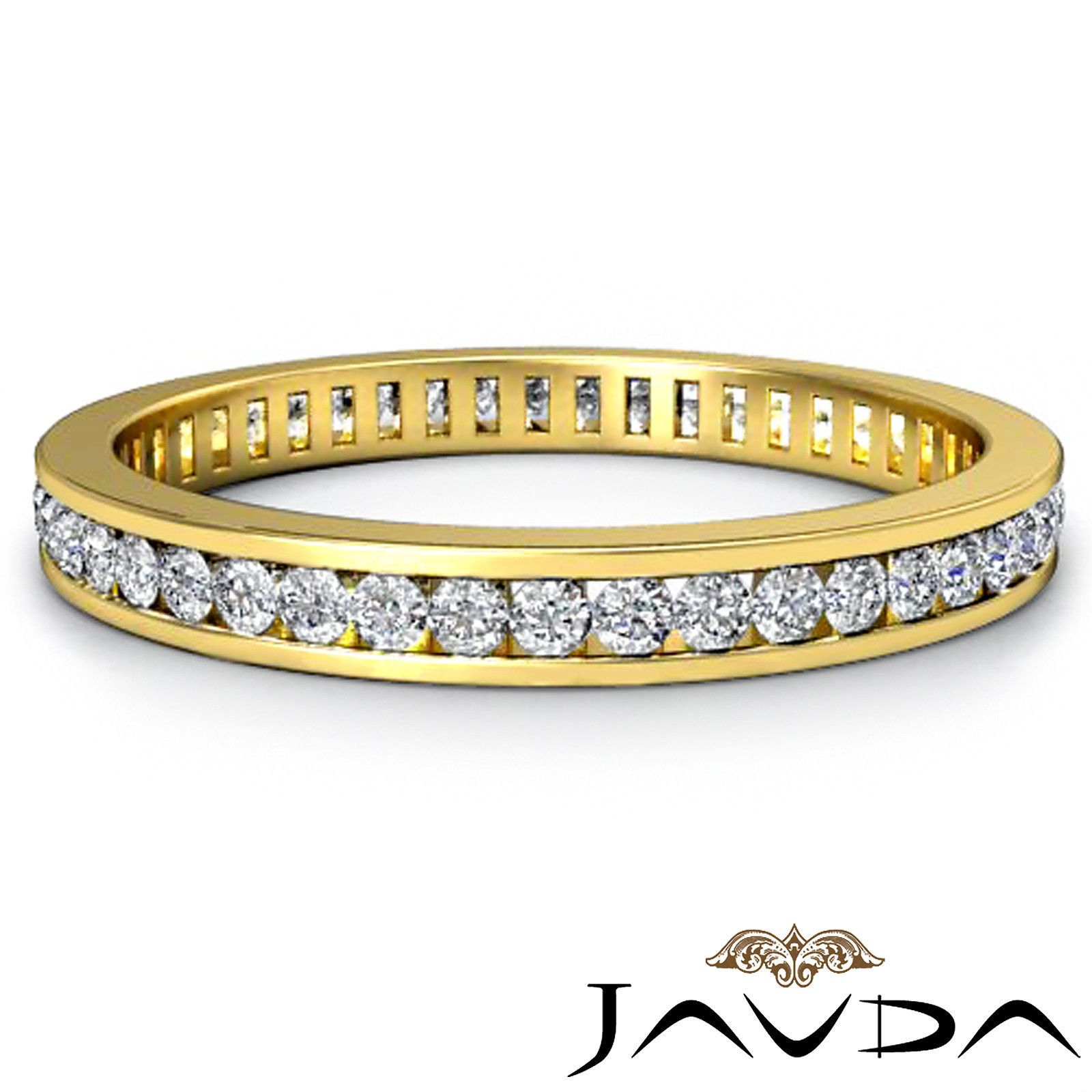 Womens Eternity Band Channel Set Diamond Engagement Ring 18K