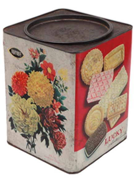 Food Dolls House Doll Box of Chocolates Biscuits Tin Metal Box
