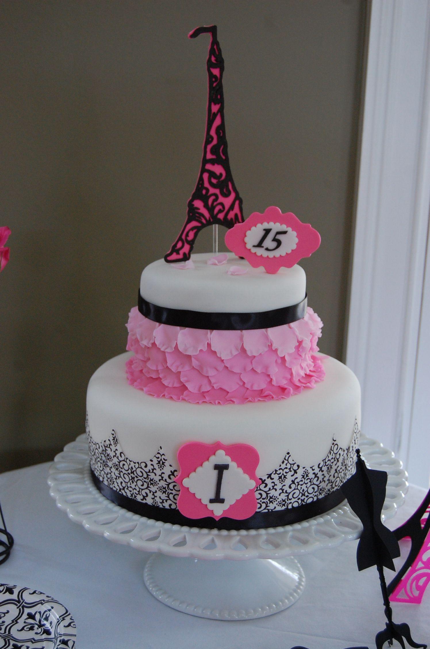Admirable Paris 15Th Birthday Cake 15 Tortas De Cumpleanos Tortas Y Funny Birthday Cards Online Alyptdamsfinfo