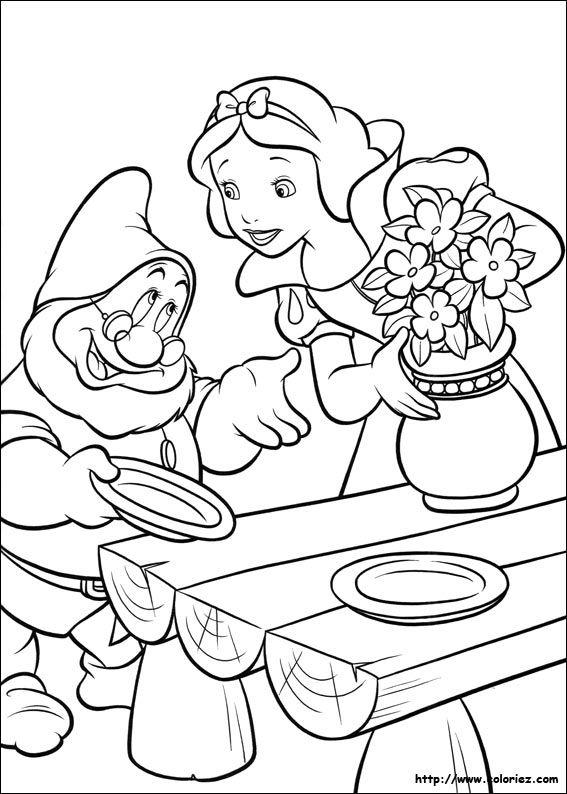 coloriage blanche neige >> (1) ċoʟoя mє Snow white