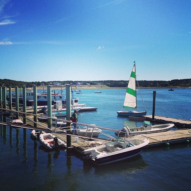 Wellfleet Harbor In Ma The Includes A Variety Of Excellent Restaurants S And Views