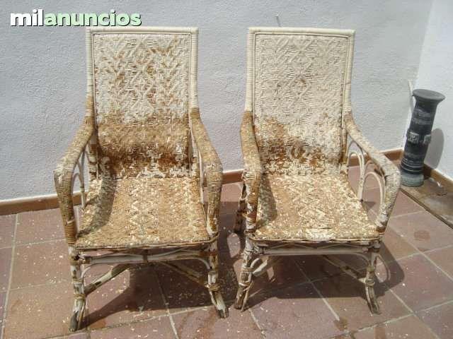 Antiguos 2 sillones de mimbre para restaurar a os 70 medidas alto 1 05mancho 60cm gastos de - Sillones antiguos para restaurar ...