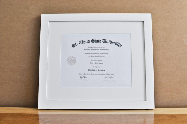 Style Medium Frame Color White Mat 2 Off White Diploma 11 W X