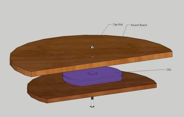 Lazy Susan Turntable Cheapo Super Easy To Make Diy Lazy Susan Lazy Susan Table Lazy Susan