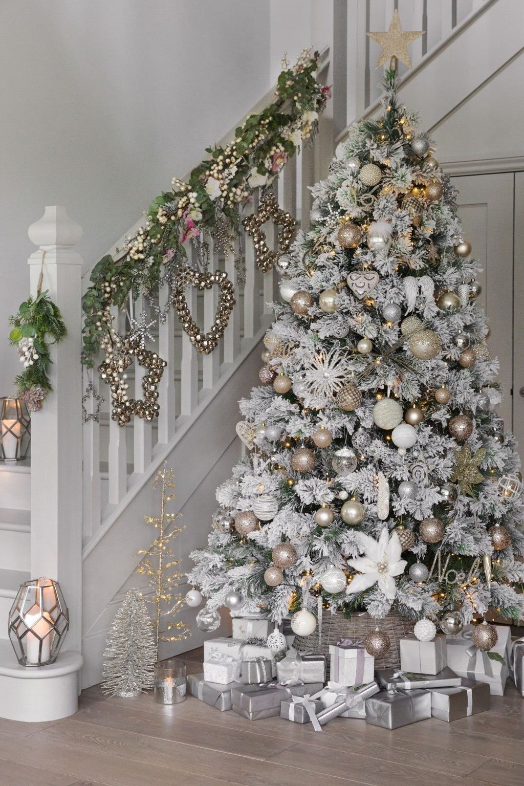 Who Had A White Christmas In 2020 31 Stunning Luxury Christmas Home Decoration Ideas in 2020 | White