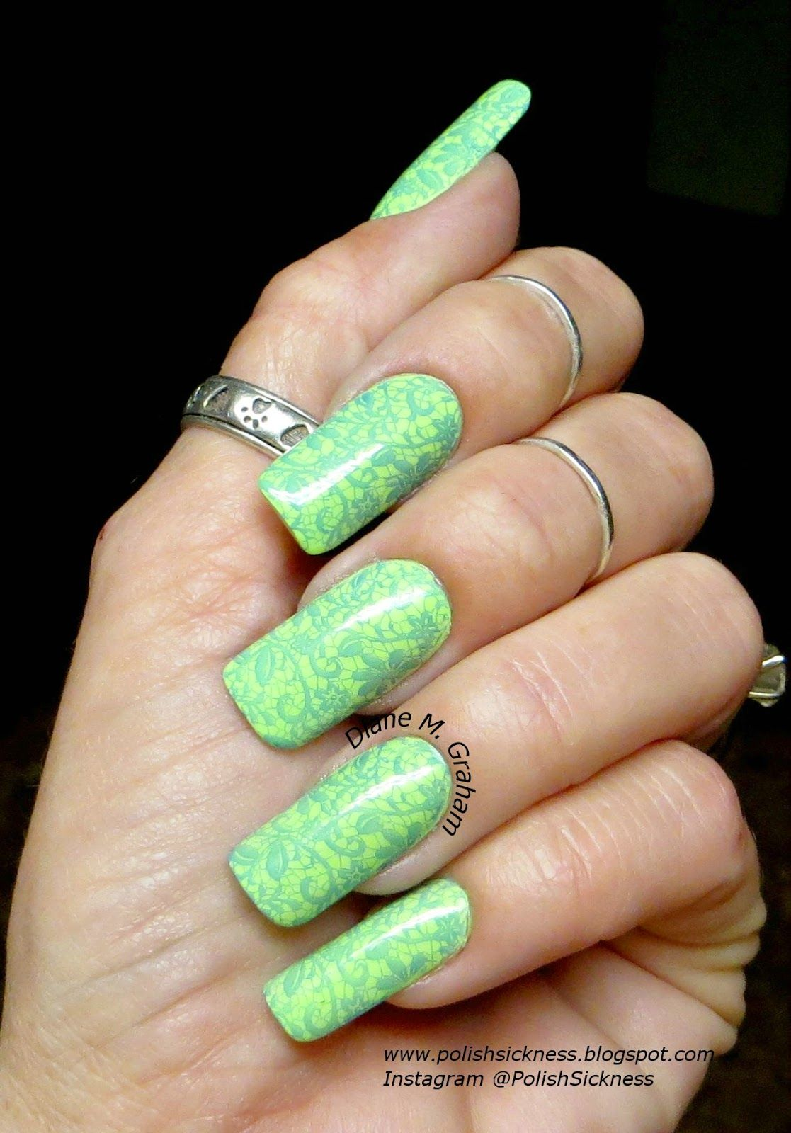 China Glaze Grass is Lime Greener, Sinful Colors Endless Blue, Ali ...