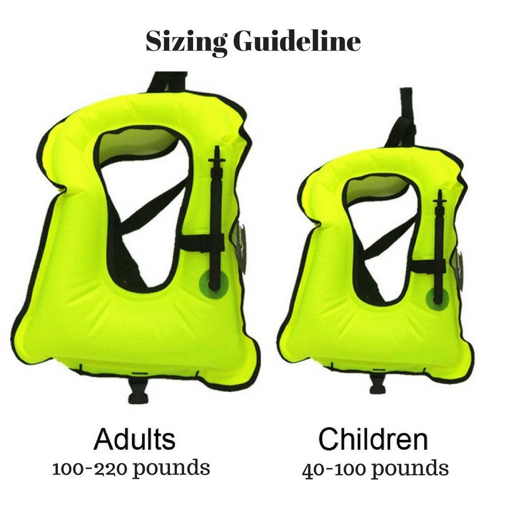 f328f11e465 7Leon Adult or Kids Snorkel Vest Portable Inflatable Snorkeling Diving  Learn to Swim Vest 2Pack 2 Child ** Check out the image by visiting the  link.