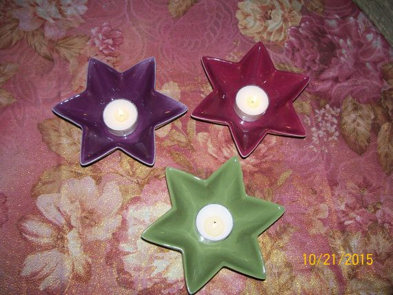 Tea Light Holders by Whiscraft on Etsy
