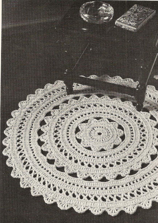 star crochet doily pattern | Round Crochet Doily Pattern » Modern ...