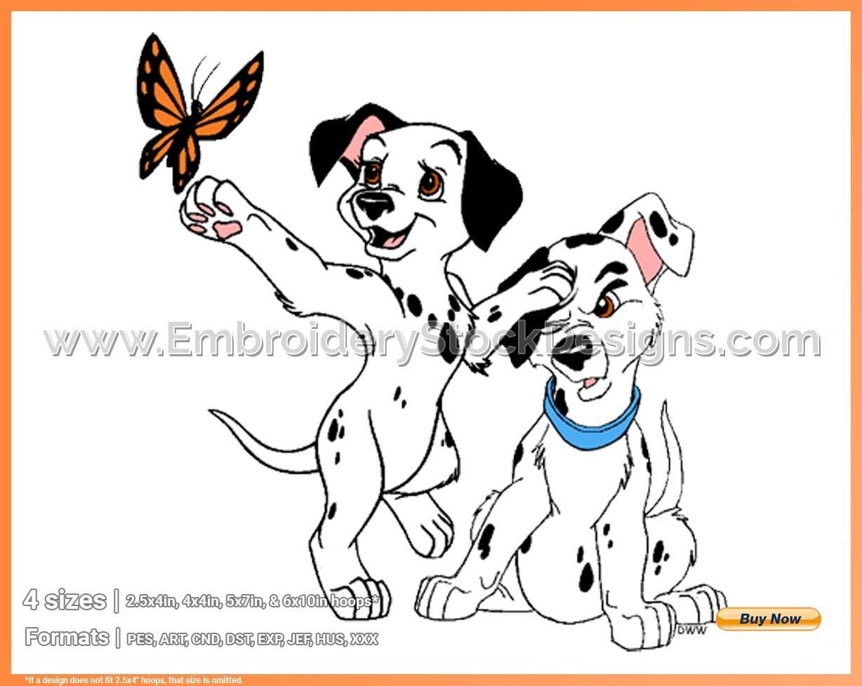 Jewel Puppy Butterfly 101 Dalmatians Puppies Disney Movie Characters In 4 Sizes Embroidery Movad005228 Embroidery Stock Designs Disney Movie Characters 101 Dalmatians Movie Characters