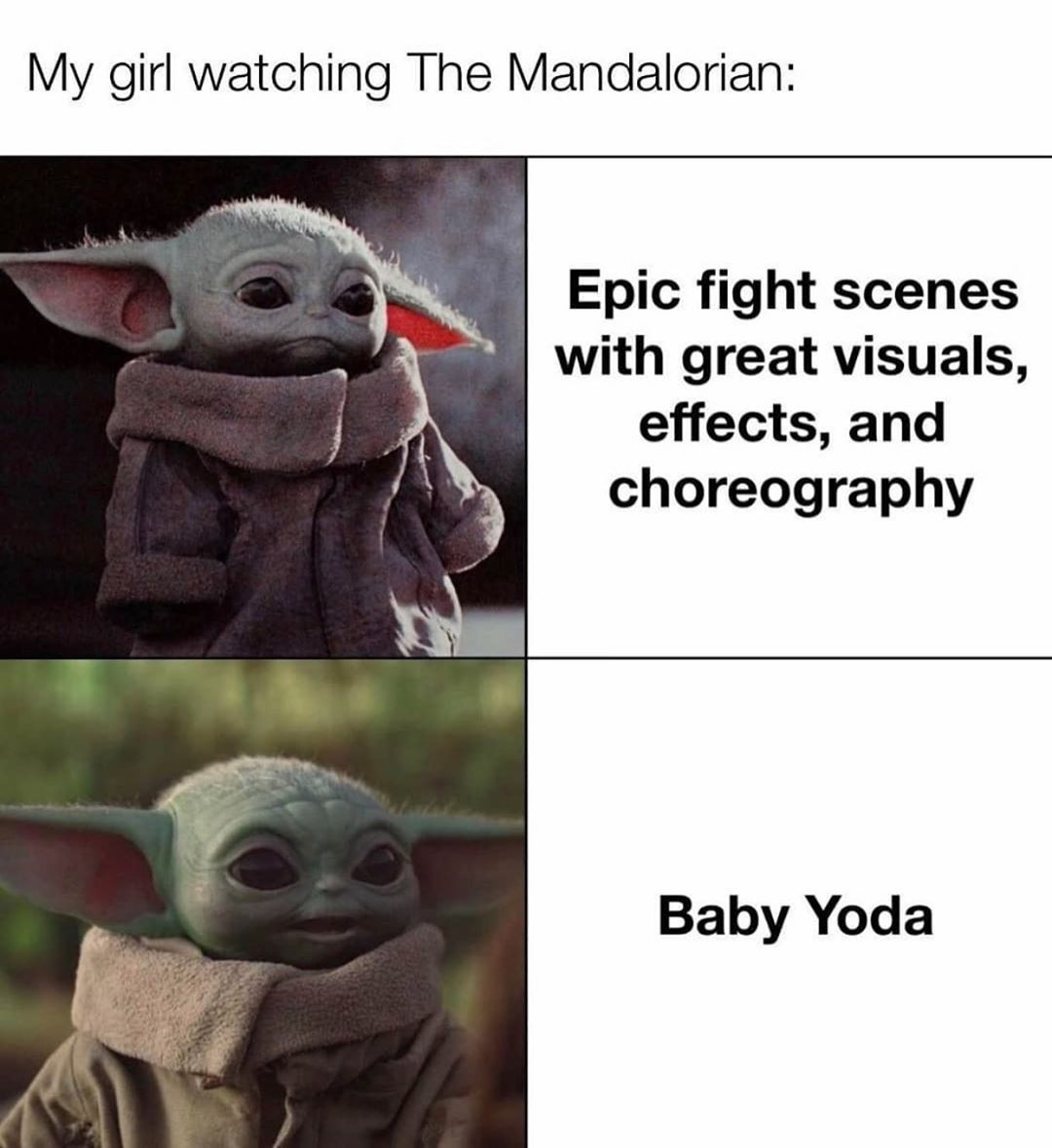 Baby Yoda On Instagram Both Is Great Follow Baby Yoda For President To See More Content Like This Comment Wh Star Wars Memes Yoda Star Wars Humor