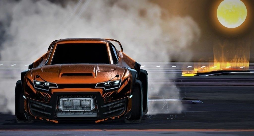 Orange car, Rocket League video game wallpaper | Cars ...