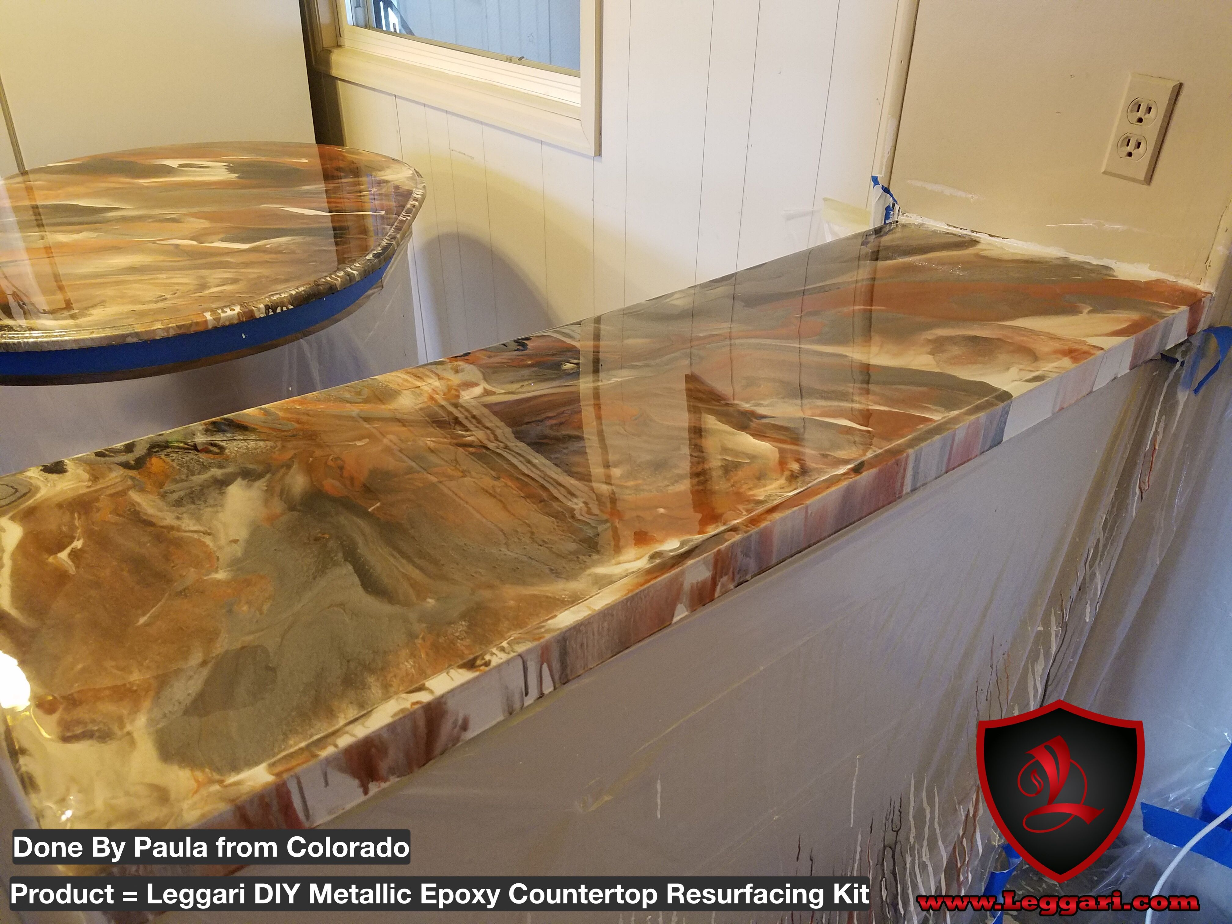 Countertop Epoxy Paint Countertop Resurfacing Made Easy With Our Diy Metallic