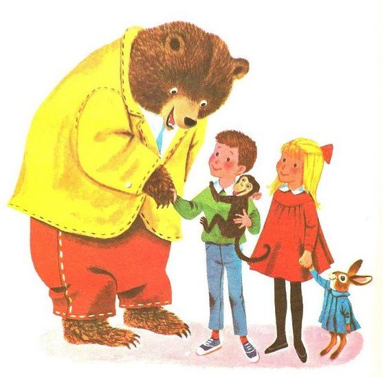 Richard Scarry illustrations from The Little Golden Book of Manners