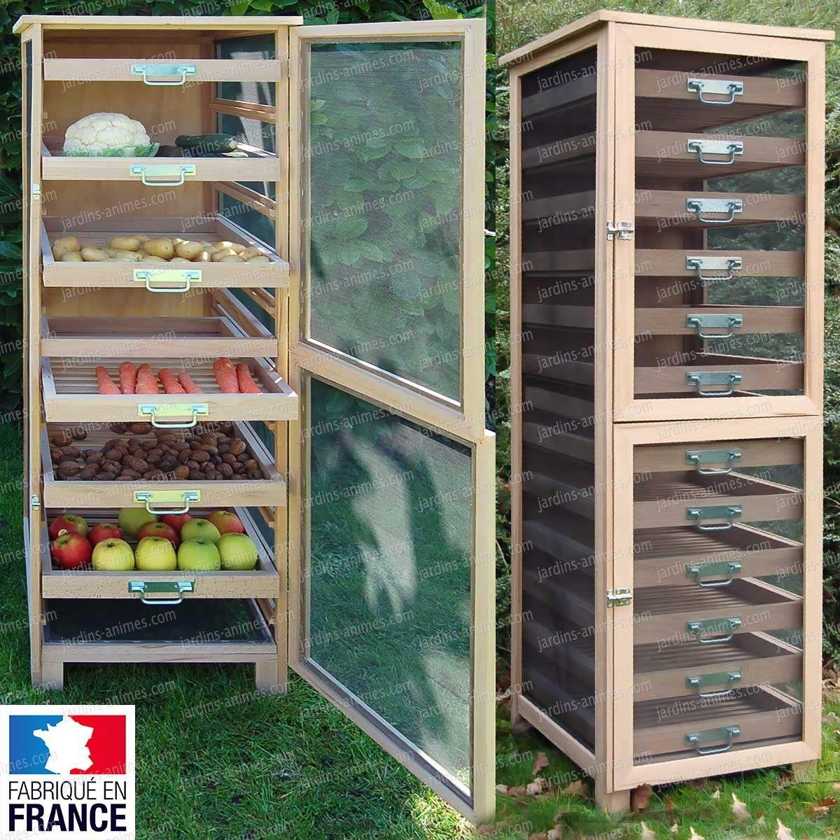 Meuble Legumier Fruitier En Bois 6 Tiroirs Rangement Legumes Garde Meuble De Legumes Legumier