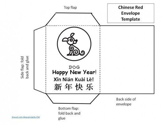 pattern for lucky red envelope - year of the dog Spring Festival ...