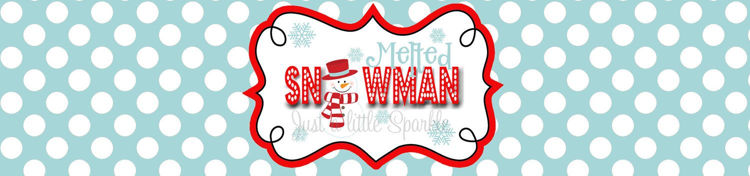 Christmas Water Bottle Labels Diy Melted Snowman Water Bottle