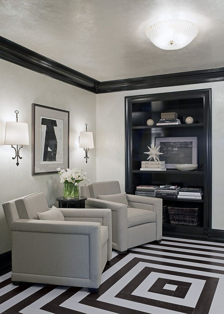 Black Trim Gray Walls Google Search Floor Design Painted Wood Floors Home