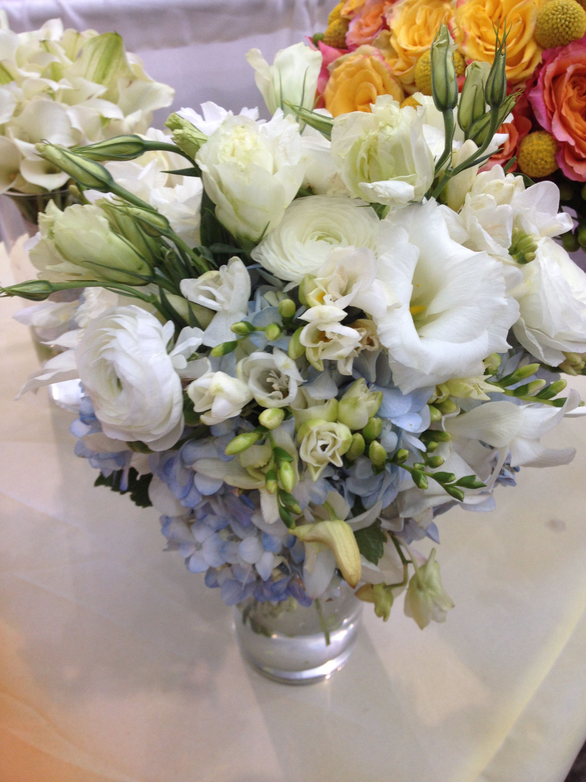 Blue and white bouquet wedding flowers pinterest bouquets blue and white bouquet izmirmasajfo Choice Image