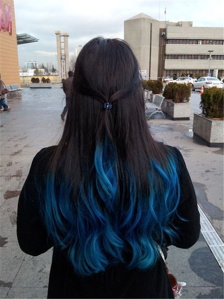 Bold And Pretty Blue Ombre Hair Color And Hairstyles You Must Try Ombre Hair Ombre Hair Color Blue Omb Hair Color For Black Hair Dip Dye Hair Dyed Hair Blue