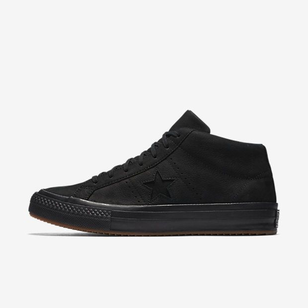 49d44c3d9803f8 Converse One Star Mid Counter Climate High Top Shoe Size 15 (Black)