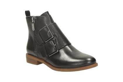 Clarks Womens Smart Clarks Taylor Storm Leather Boots In Black