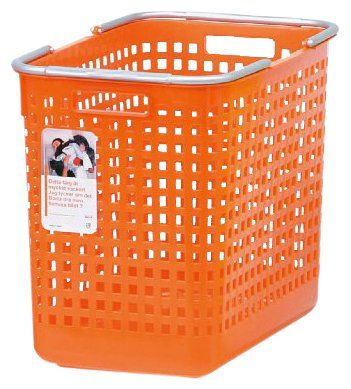 Plastic Laundry Basket Orange Casa Com Plastic Laundry Basket Getting Organized Laundry Organization