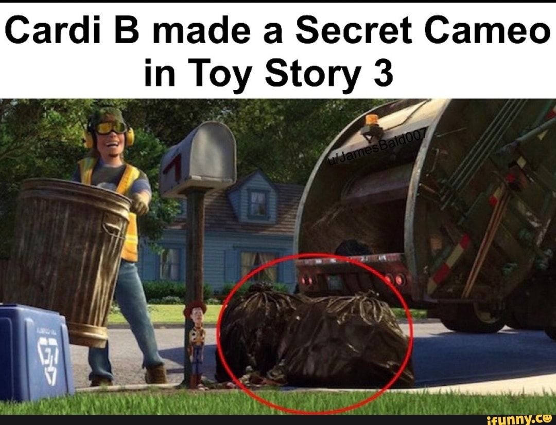 Cardi B Made A Secret Cameo In Toy Story 3 Ifunny Funny Gaming Memes Funny Relatable Memes Toy Story