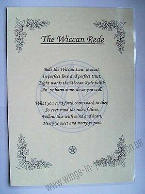 PAGAN A4 Posters-Charge of the Goddess, Wheel of the Year, Wiccan Rede   eBay