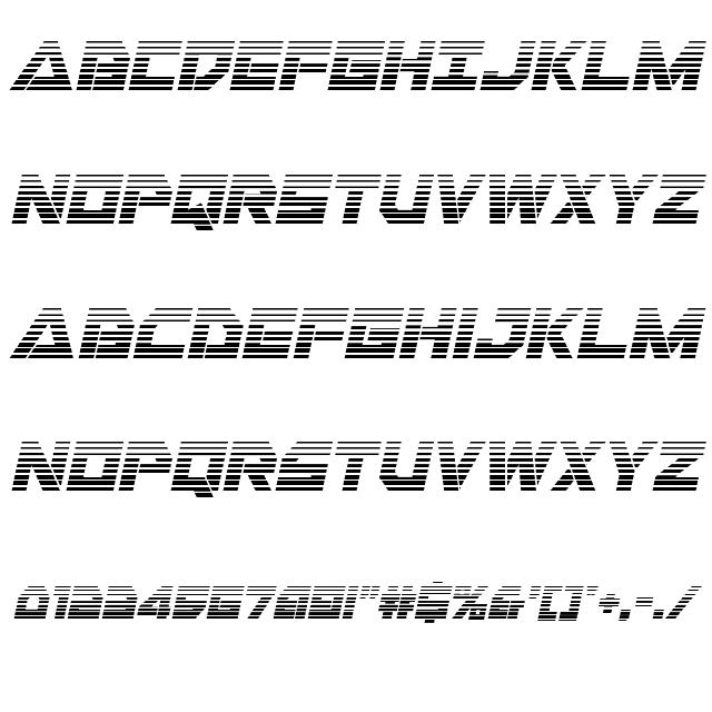 Liberty Island Gradient Italic Font