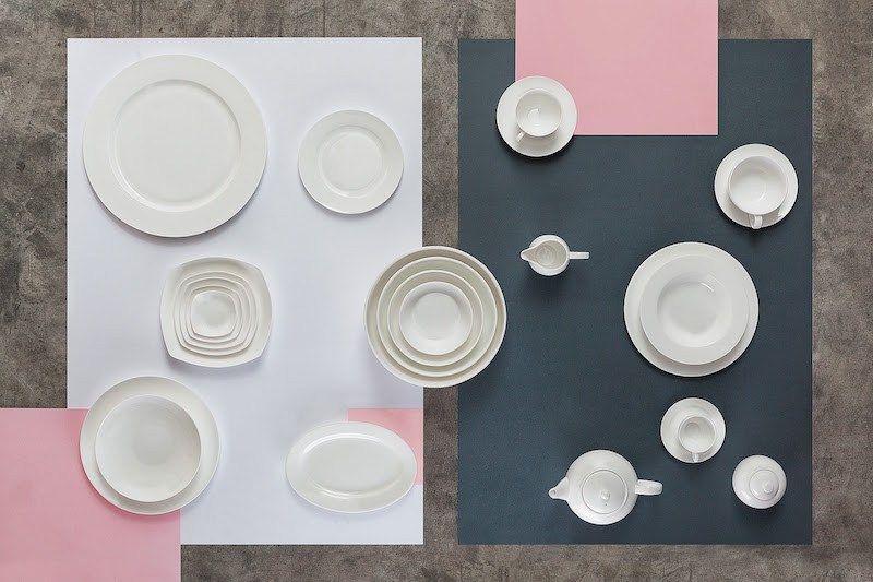 Bitossi Home Graphic Tablewear Collection Pink Bar Modern Door